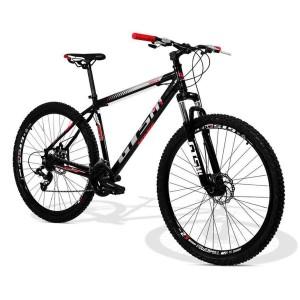Bicicleta GTSM1 Movee Freio a Disco 21 Marchas - Aro 29 - Preto e Vermelho